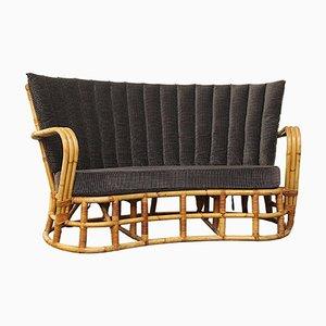 Vintage Rattan & Bamboo Sofa