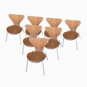 Chairs by Arne Jacbsen for Fritz Hansen, 1970, Set of 7