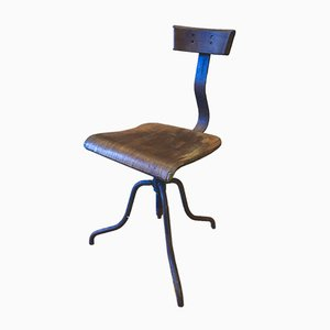 Vintage Rustic Swivel Machinist Chair