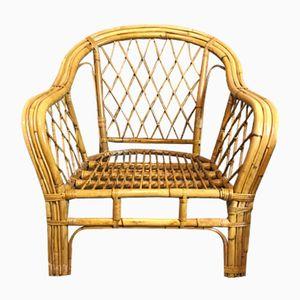 Vintage Rattan Armchairs, Set of 2