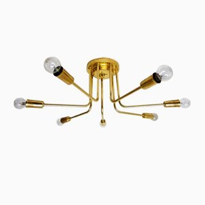Brass Sputnik Ceiling Lamp, 1970s