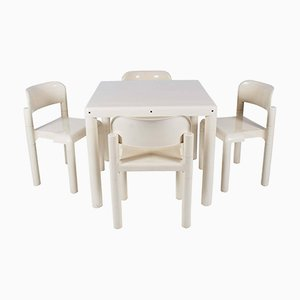Dining Table with 4 Chairs by Eero Aarnio for UPO, 1970s