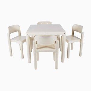 Tavolo e 4 sedie da pranzo di Eero Aarnio per UPO, anni '70