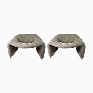 F598 Chairs von Pierre Paulin für Artifort, 1950er, 2er Set