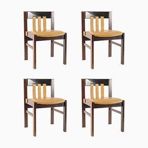 Chaises de Salle à Manger en Cuir par Martin Visser pour 't Spectrum, Set de 4