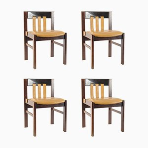 Leather Dining Chairs by Martin Visser for 't Spectrum, Set of 4