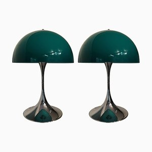 Lámpara de mesa Panthella vintage de Verner Panton