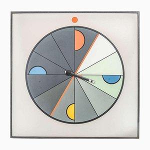 Grande Horloge Murale Memphis par Kurt Delbanco pour Morphos, 1980s