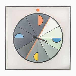 Large Memphis Wall Clock by Kurt Delbanco for Morphos, 1980s