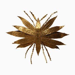 Vintage Libellen Wandlampe aus vergoldeter Bronze von Paul Moerenhout