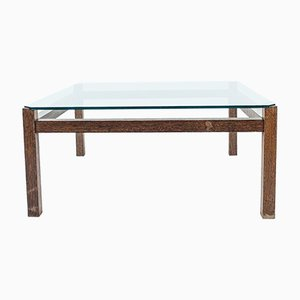Mid-Century Wengé & Glass Coffee Table by Kho Liang Ie for Artifort