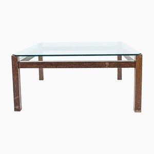 Table Basse Mid-Century en Wengé et Verre par Kho Liang Ie pour Artifort