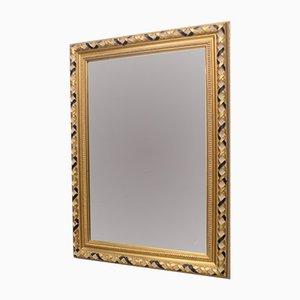 Specchio rettangolare vintage in vetro sfaccettato