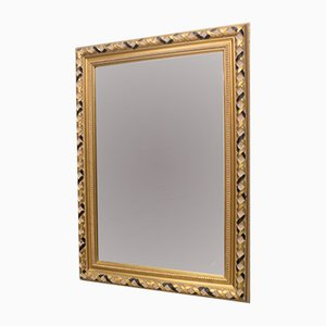 Vintage Rectangular Faceted Mirror