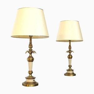 Lampes de Bureau Hollywood Regency de Stiffel Lighting, 1960s, Set de 2