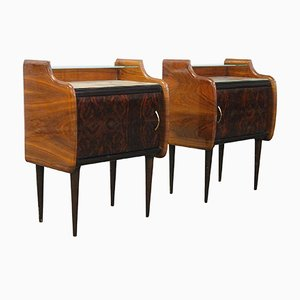 Two-Tiered Nightstands by Vittorio Dassi, Set of 2