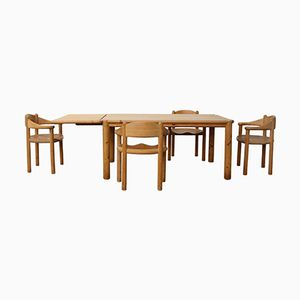 Vintage Pine Dining Set by Rainer Daumiller