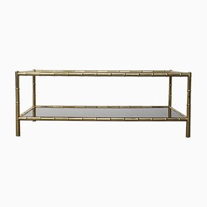 Vintage Two-Tiered Coffee Table by Jacques Adnet