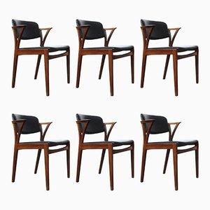 Chaises de Salle à Manger Vintage par Kai Kristiansen, Set de 6
