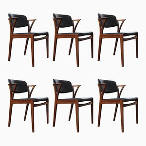 Vintage Dining Chairs by Kai Kristiansen, Set of 6
