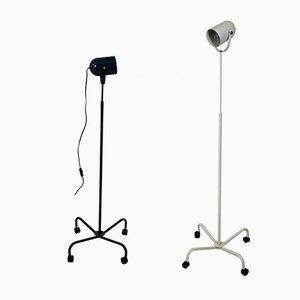 Lampade da terra Panto Beam postmoderne di Verner Panton, anni '90, set di 2