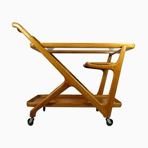Wooden Tea Trolley by Cesare Lacca for Cassina, 1950s
