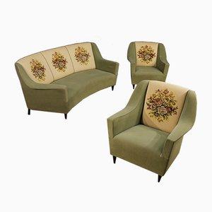 Italienisches Wohnzimmer Set von Ico Parisi, 1950er, Sofa und 2 Chairs