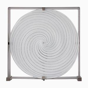 Lampada da tavolo a spirale di Carlo Nason per Mazzega, anni '60