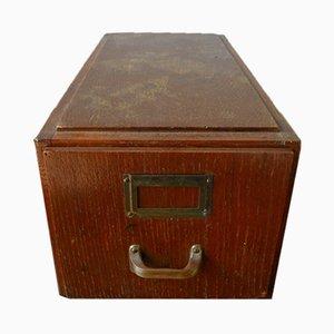 Caja con cajoncillo vintage de madera de Stolzenberg Mobel, años 20