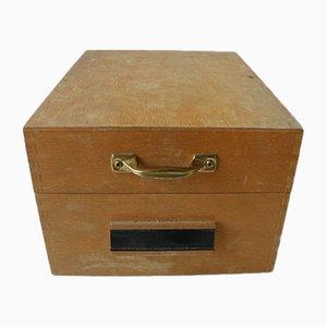 Caja archivadora de madera, años 60