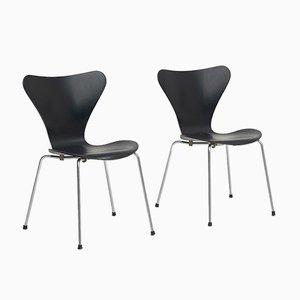 Mid-Century 3107 Butterfly Chairs von Arne Jacobsen für Fritz Hansen, 2er Set