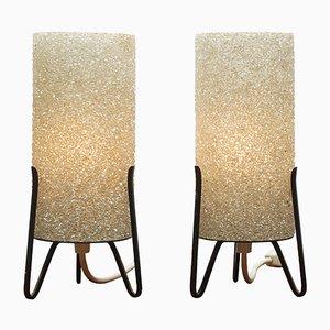 Lampen aus Kristallglas mit Dreifuß, 1950er, 2er Set