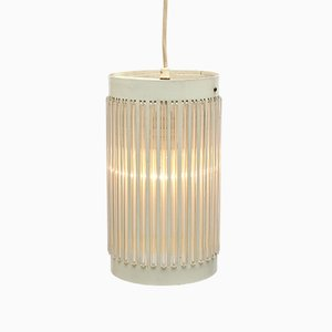 Lámpara colgante de metal y plexiglás, años 60