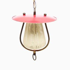 Lampe à Suspension Rose, 1950s