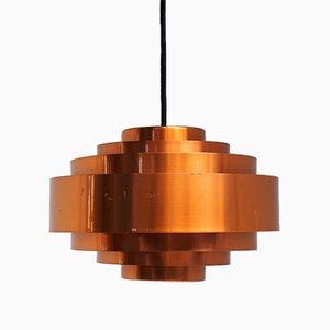 Lámpara colgante Ultra de cobre de Jo Hammerborg para Fog & Mørup, años 60