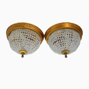 Italian Ceiling Lights, 1940s, Set of 2