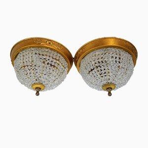 Lámparas de techo italianas, años 40. Juego de 2