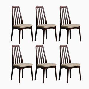 Esszimmerstühle aus Palisander von Svegards Markaryd, 1960er, 6er Set