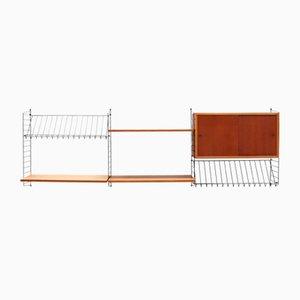 Regalsystem mit Schreibtisch von Kajsa & Nils Nisse Strinning für String, 1950er
