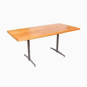 Table de Salle à Manger Vintage en Chêne et Acier