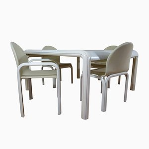 Italian Orsay Dining Set by Gae Aulenti for Knoll International, 1960s, Table and 4 Chairs