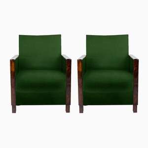 Customizable Art Deco Lounge Chairs, Set of 2