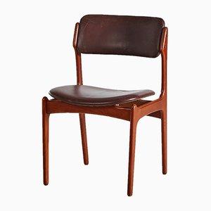 Chaise Modèle 49 Mid-Century par Erik Buch pour Oddense Maskinsnedkeri, 1960s