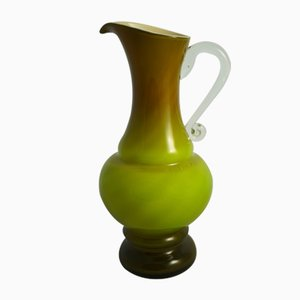 Vintage Green Jug by Jan Sluczan Olkusz, 1970s