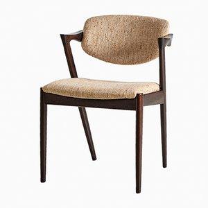 Mid-Century Modell 42 Stuhl von Kai Kristiansen für Schou Andersen, 1960er