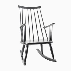 Black Rocking Chair by Lena Larsson for Nesto Sweden, Pastoe, 1950s