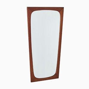 Espejo Mid-Century angular con marco de teca, años 60
