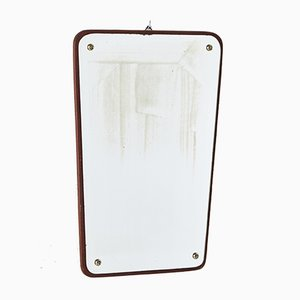 Espejo danés vintage con marco de teca, años 60