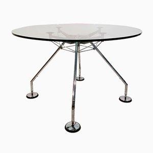 Tavolo vintage rotondo di Norman Foster per Tecno