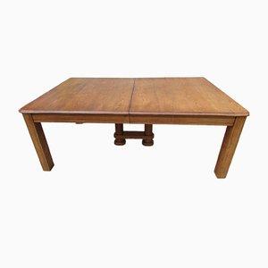 Tavolo allungabile in quercia, anni '30